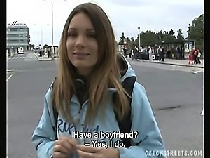 girl naked on the street