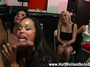 Cfnm amateur blowjob party babes