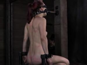 Tied up bondage bdsm sub pussy toyed