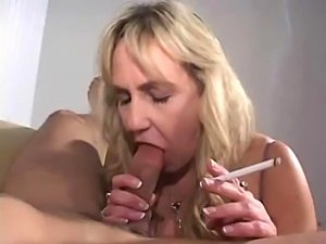 girl smoking cigar with pussy