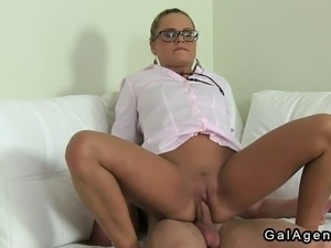 girl ass fucked at job interview