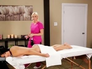naked lesbian full body massage