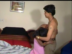 Indian aunty boob press