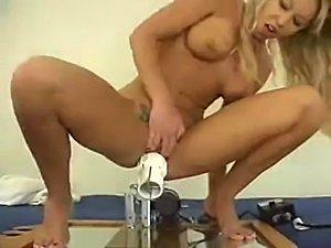 erotic young cunt fucking machine