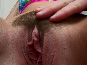 sheer pantie with hairy pussy