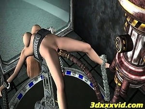 blonde girl penetrated by alien