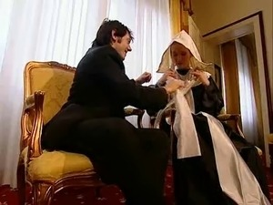 black nun with tight pussy fucking