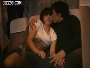 orgasm on bus video