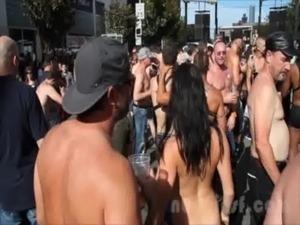 girl naked on the street