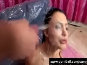 sperm on her pussy