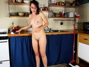 chef and waitress anal sex kitchen