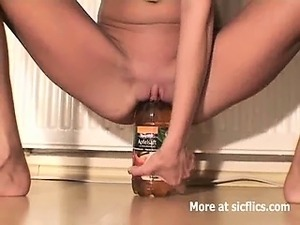 Huge bottle in ass