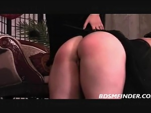 girl spanked sucking dick