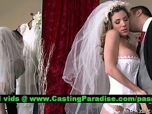 petite bride showing