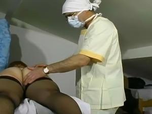 Girl breast exam