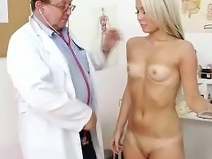 blonde lesbian and doctor