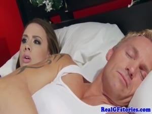 wifey swallow cum blowjob