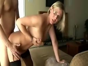 blonde blowjob porn kitchen