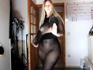 hairy pussy sheer nylon panties