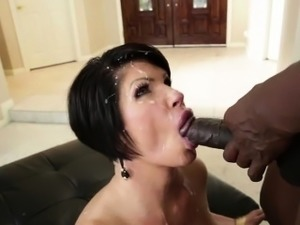 Shay Foxx licks a big black cock