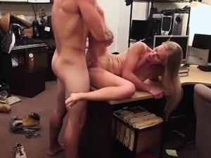 Blonde petite gets pussy banged hard
