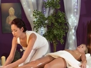 husband massaged by wife video