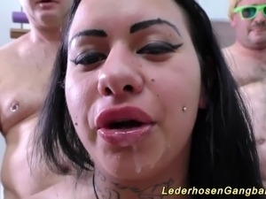amature interracial gangbang pictures