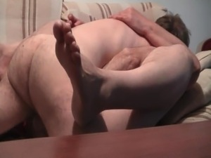 mature pussy penetrated in missionary position