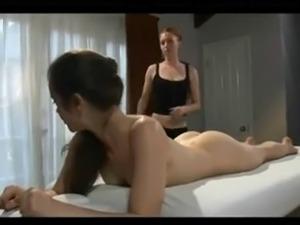 Hot lesbian oil massage
