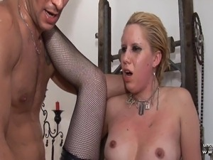 hot blonde sucks hard dick