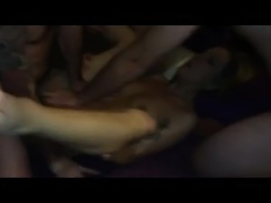 two girls gangbang video