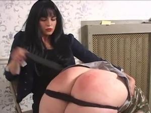 ebony dominant mature wife spanks husband