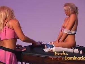 three kinky blonde lesbians