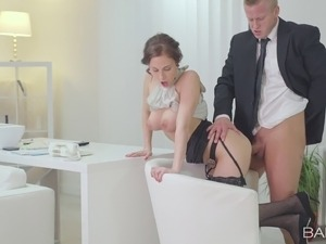tube secretary anal stockings mature mom