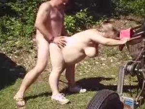 Fucking mature wife in garden