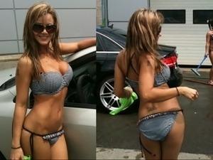 black push up bikini