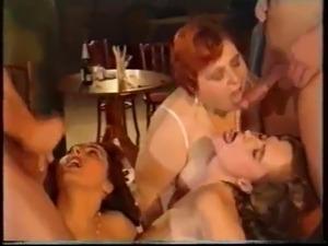 hot sexy girls having first orgy