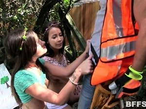 teen girls whipped outdoors
