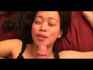 brunette sex facial tapes