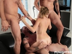 wife gets gangbang video