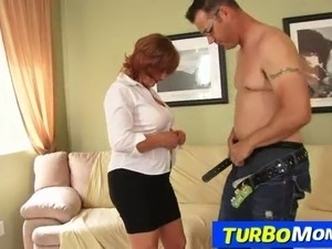 Horny redhead lady Sarah enjoys a rough fucking