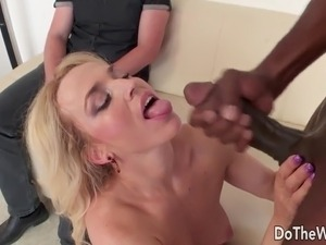Hot blonde wife big black cock