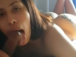 Latin girl suck black dick