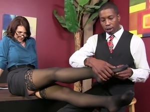 ebony office porn