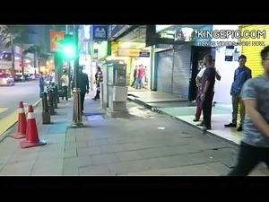 asian girl street grab video