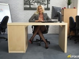 office girls flashing