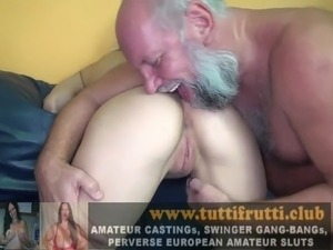trailer threesome having sex