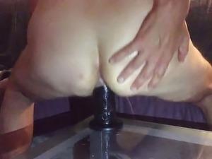 wife fucks friend to creampie pussy