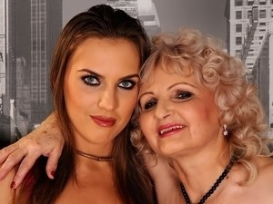 old woman teaching young porn