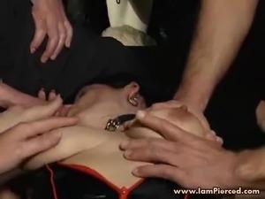 sexy ebony with pierced nipples